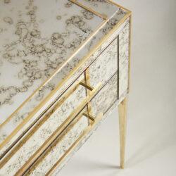 The image for Italian Antiqued Mirror Bedsides 062 V1