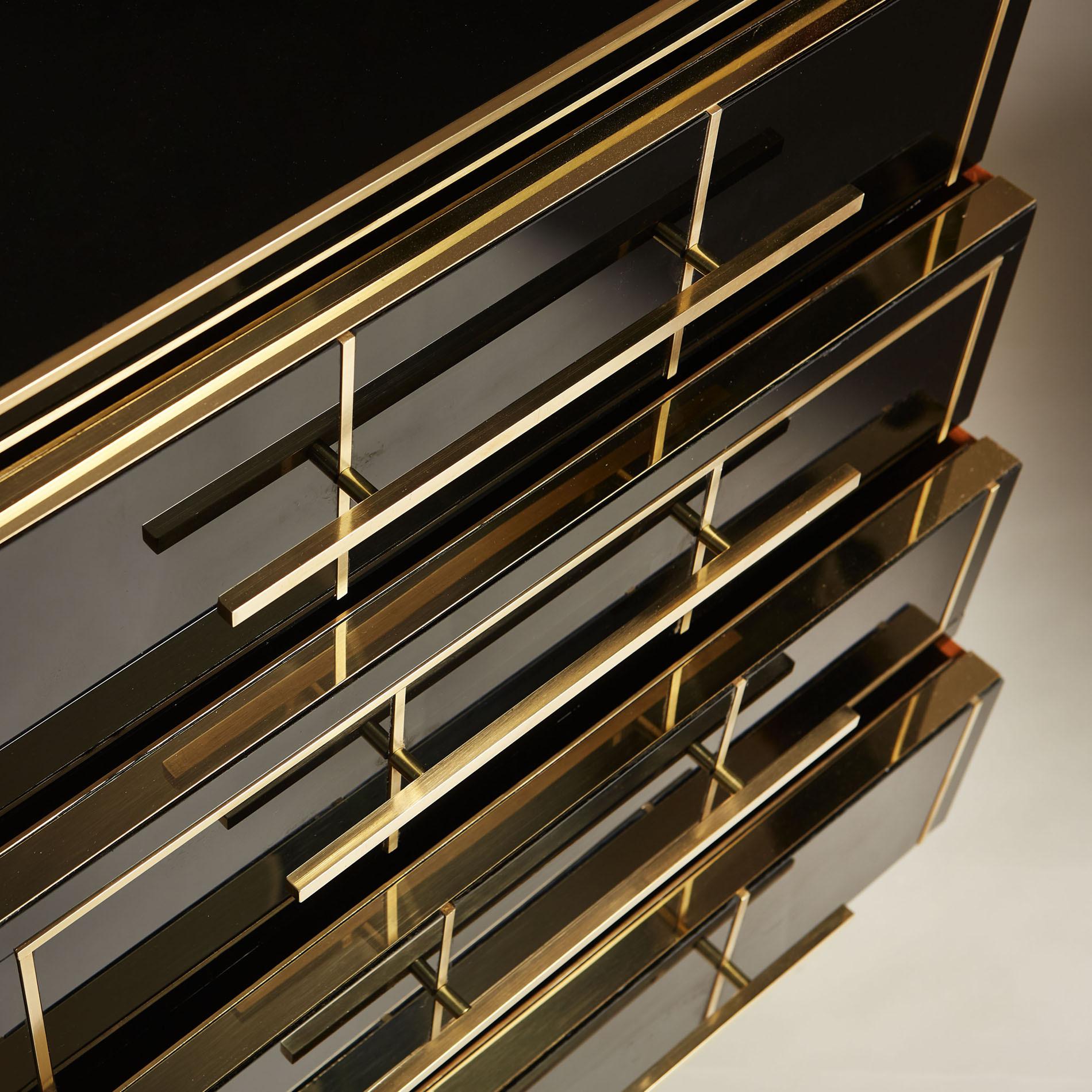 Italian Black Glass Bedsides 163