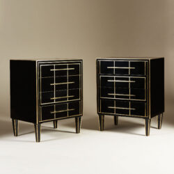 The image for Italian Black Glass Bedsides 0142