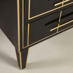 The image for Italian Black Glass Bedsides 0166