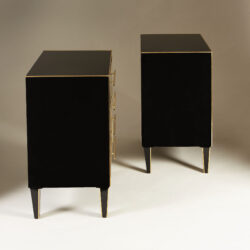 The image for Italian Black Glass Bedsides 0170