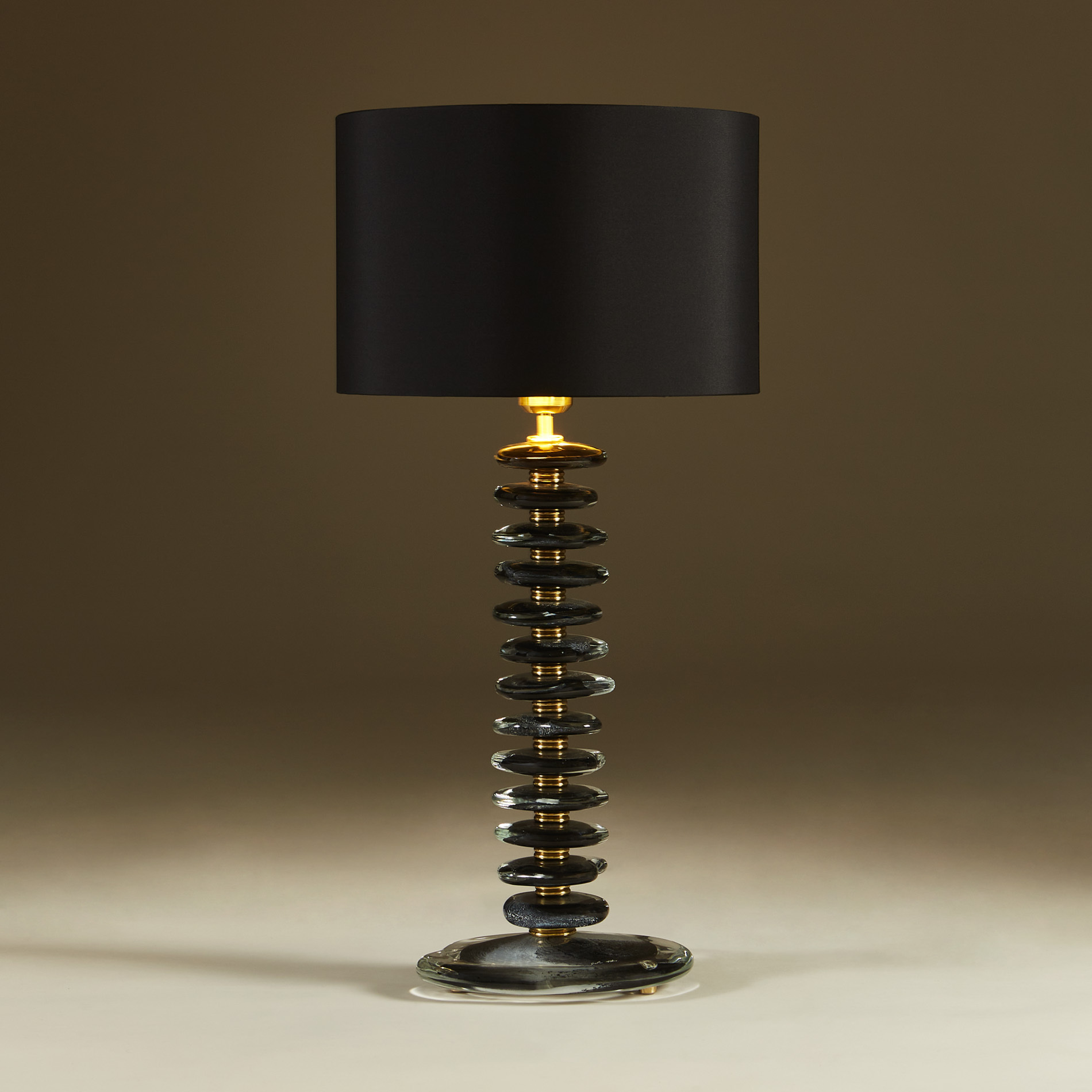 Black Murano Pebble Lamps 033 V1