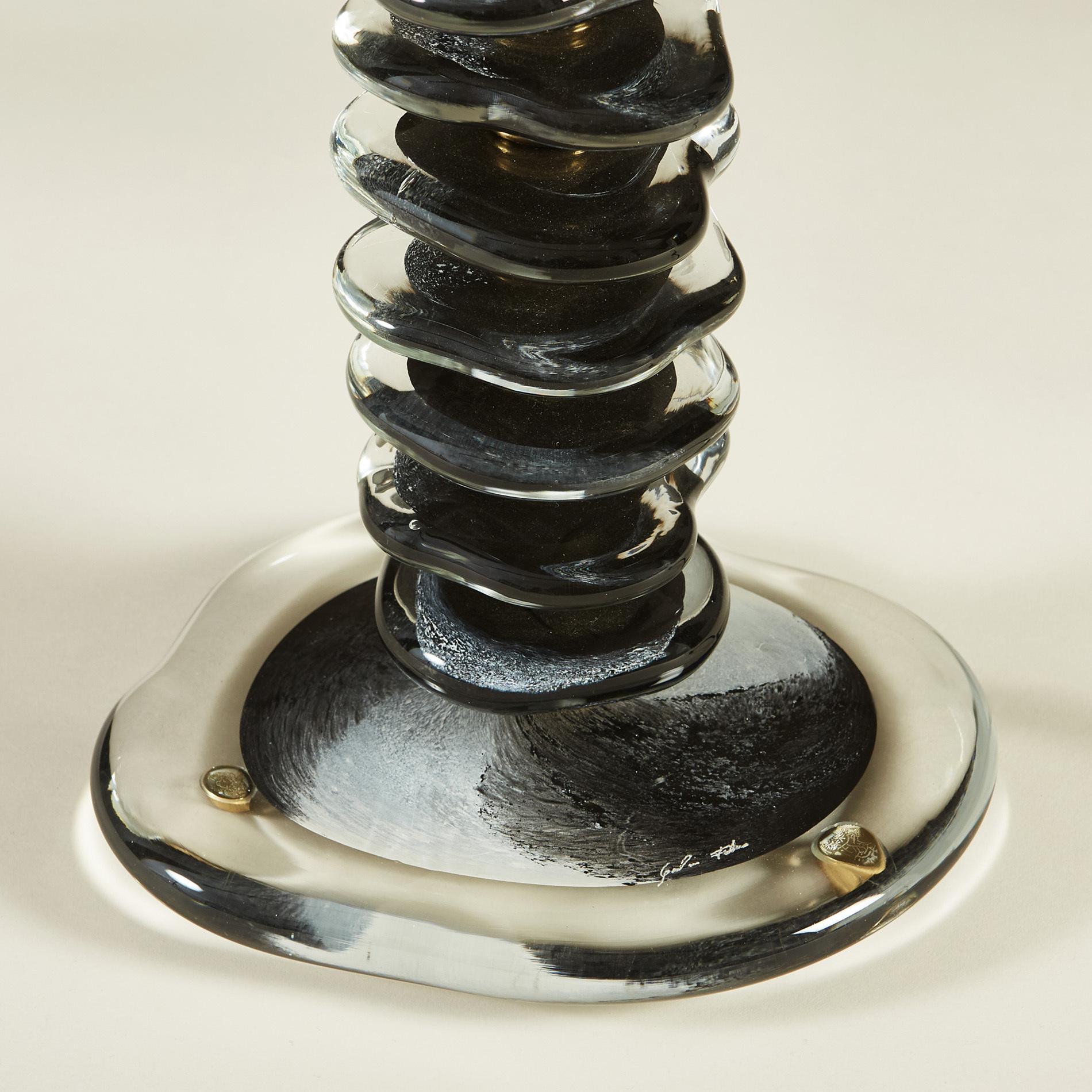 Black Murano Pebble Lamps 035 V1