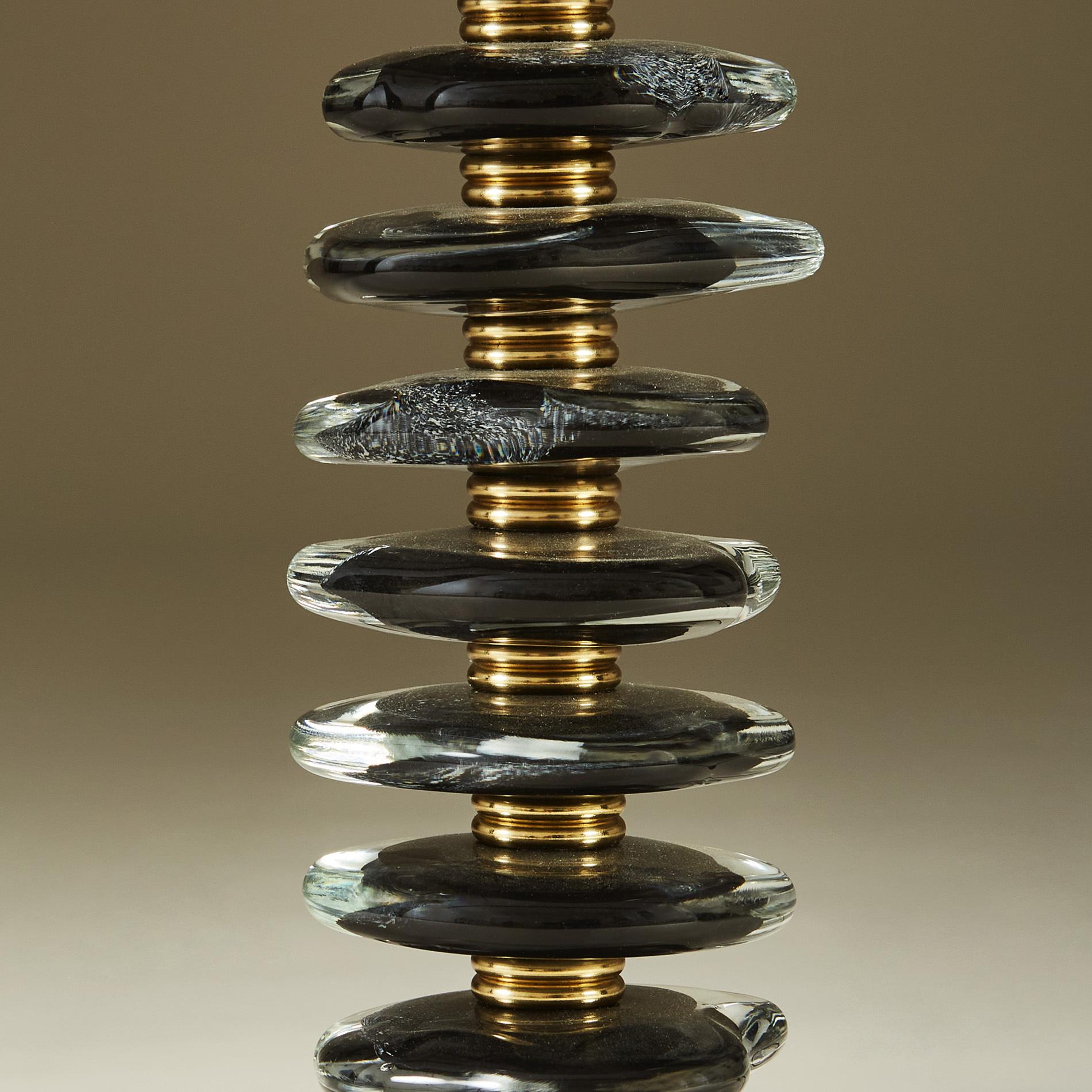 Black Murano Pebble Lamps 039 V1