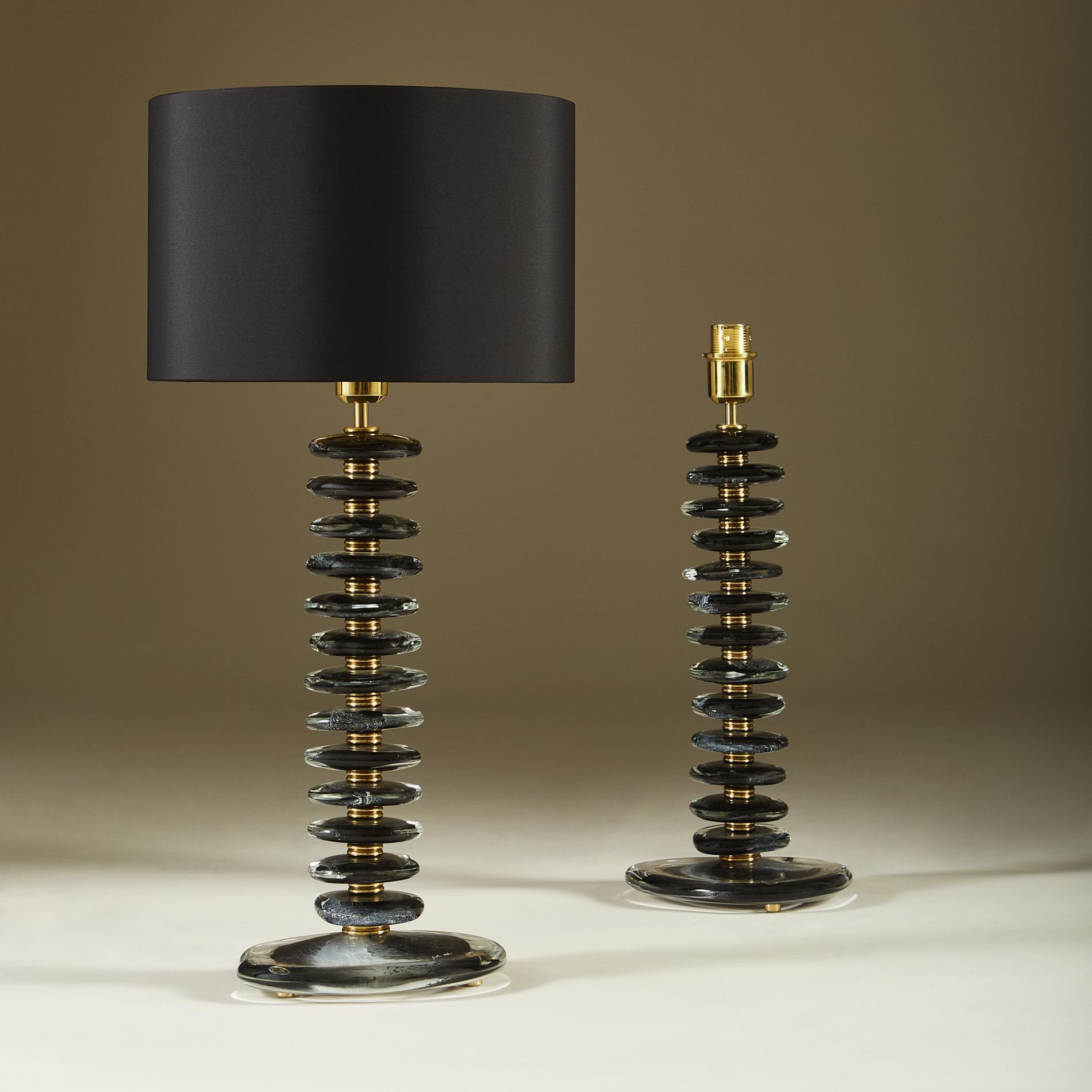 Black Murano Pebble Lamps 040 V1