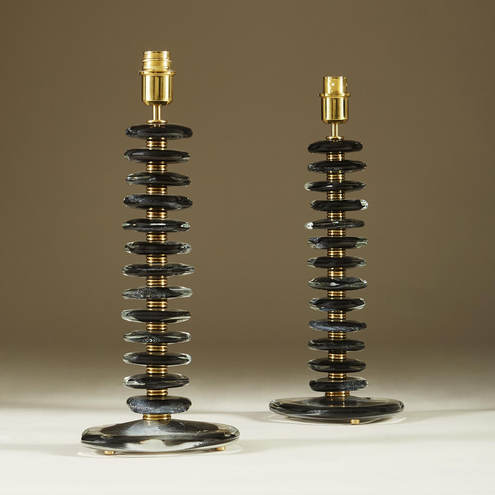 Black Murano Pebble Lamps 042 V1