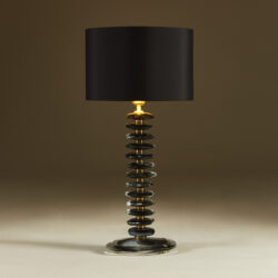The image for Black Murano Pebble Lamps 033 V1