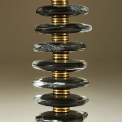 The image for Black Murano Pebble Lamps 039 V1