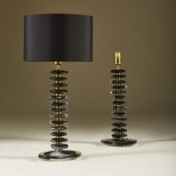 The image for Black Murano Pebble Lamps 040 V1