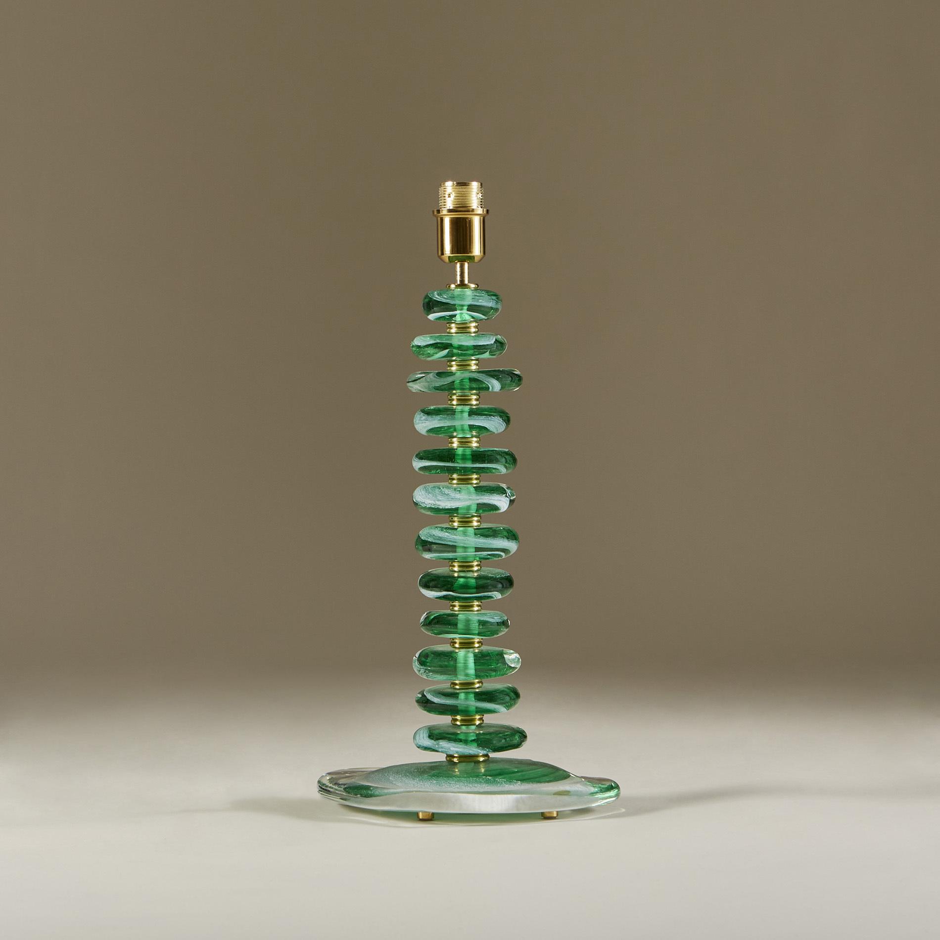 Green Glass Pebble Lamp 0030 V1