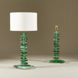 The image for Green Glass Pebble Lamp 0013 V1