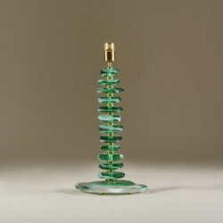 The image for Green Glass Pebble Lamp 0030 V1