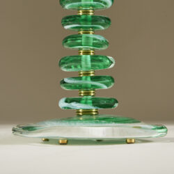 The image for Green Glass Pebble Lamp 0035 V1