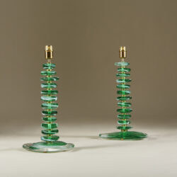 The image for Green Glass Pebble Lamp 0036 V1