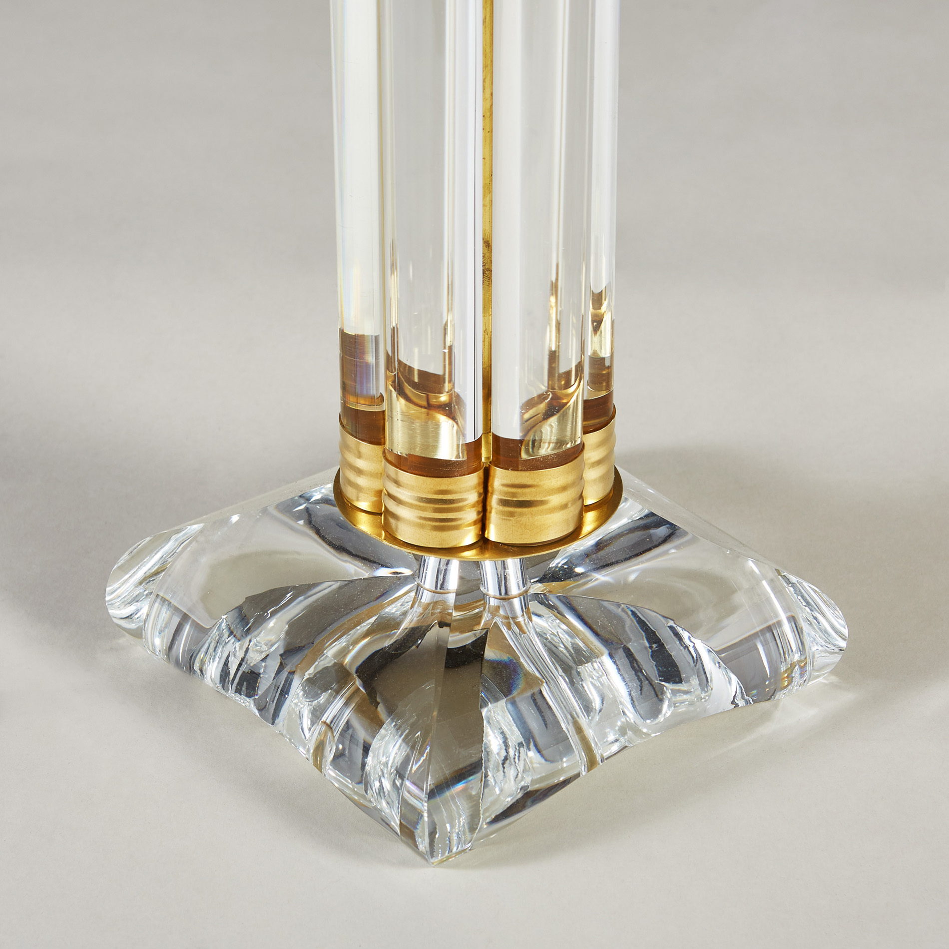 Clear Crystal Column Lamps 181 V1