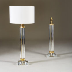 The image for Clear Crystal Column Lamps 172 V1