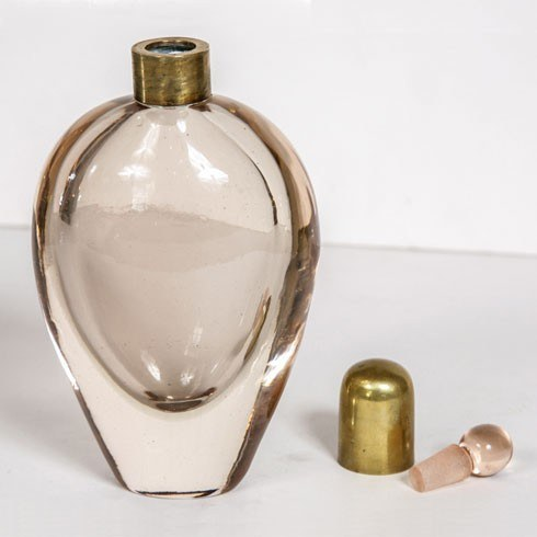 Pair Of Pale Pink Scent Bottles Iii