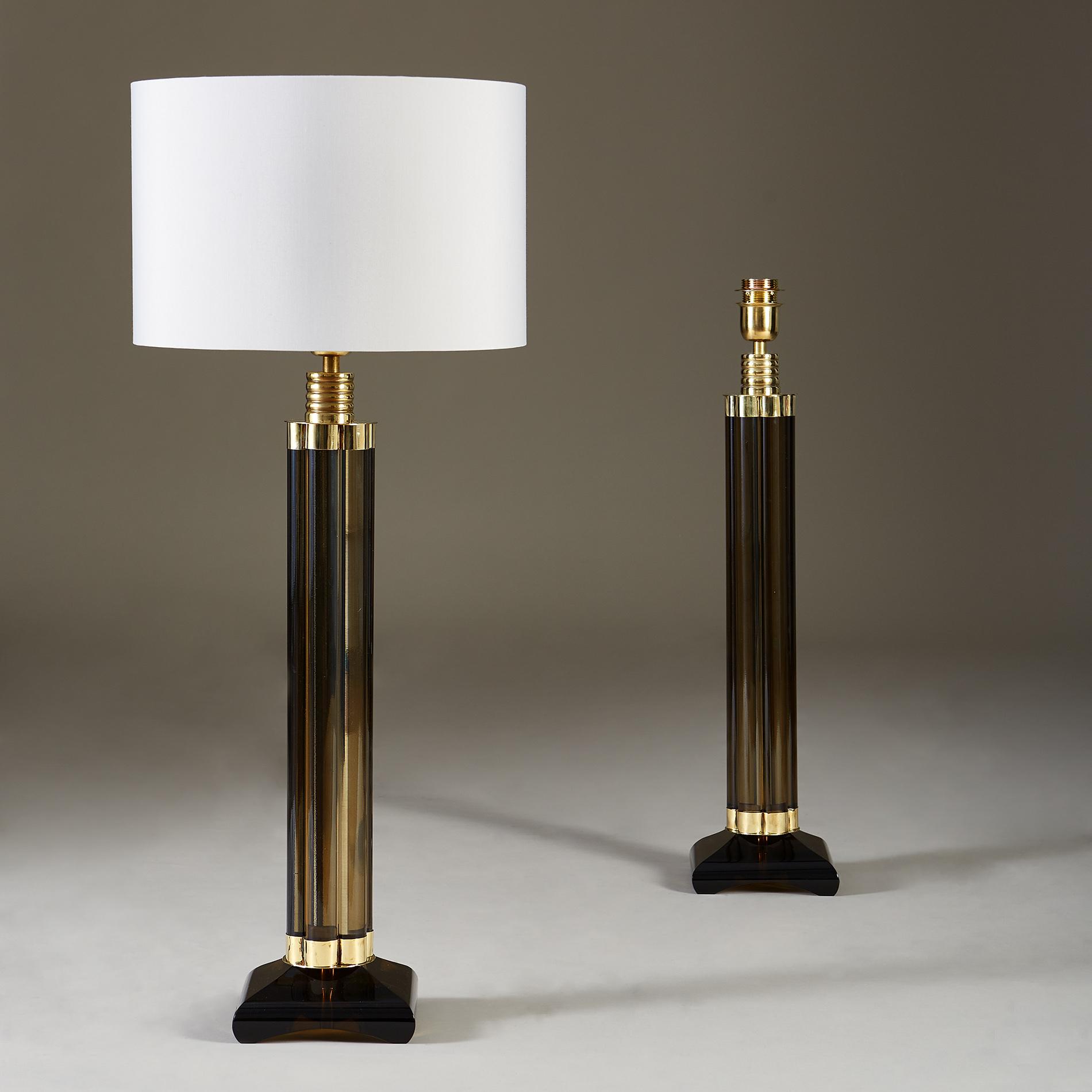 Smokey Crystal Column Lamps 20210225 Valerie Wade 2 184 V1