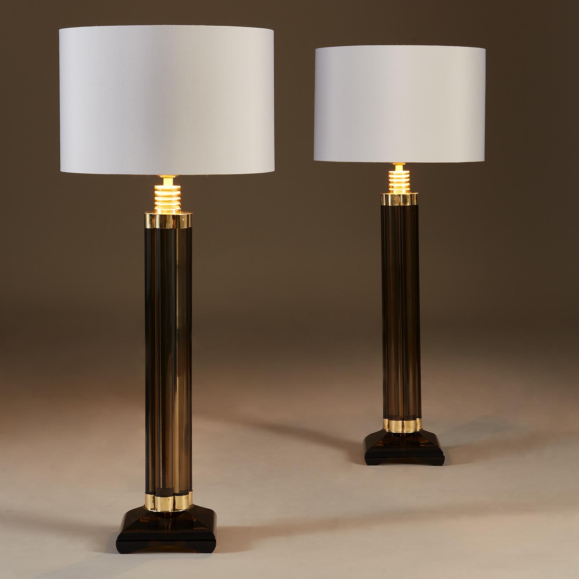 Smokey Crystal Column Lamps 20210225 Valerie Wade 2 187 V1