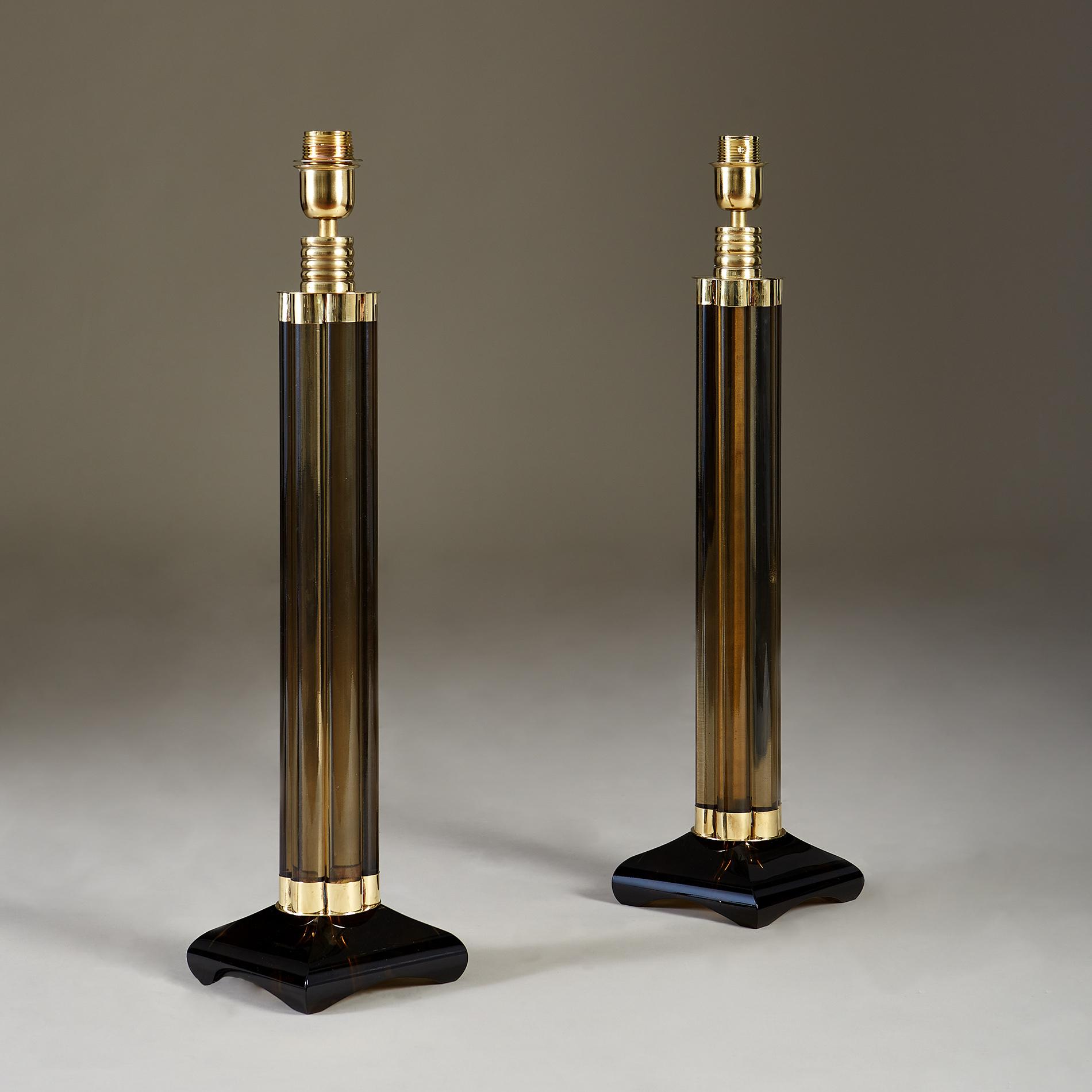Smokey Crystal Column Lamps 20210225 Valerie Wade 2 195 V1