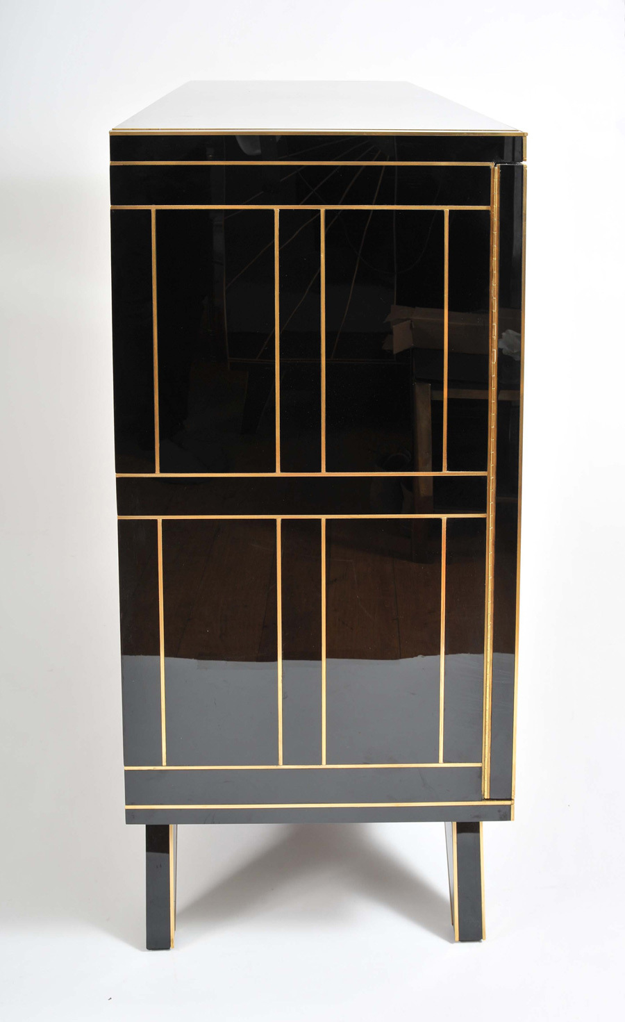 The image for Valerie Wade 0621 Pair 1970S Italian Black Glass Cabinets 03