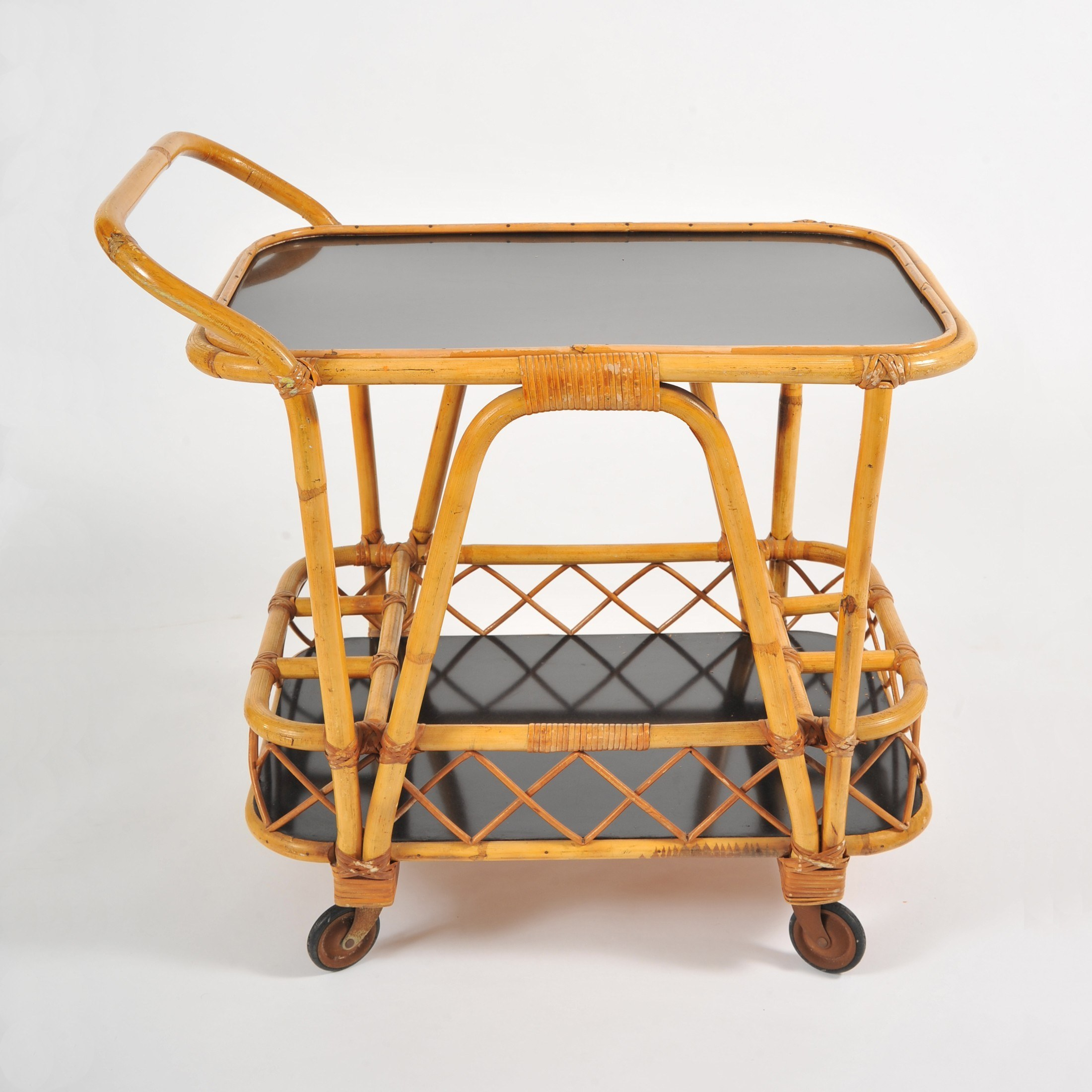 Valerie Wade Ams653 1950S French Bamboo Drinks Trolley 02