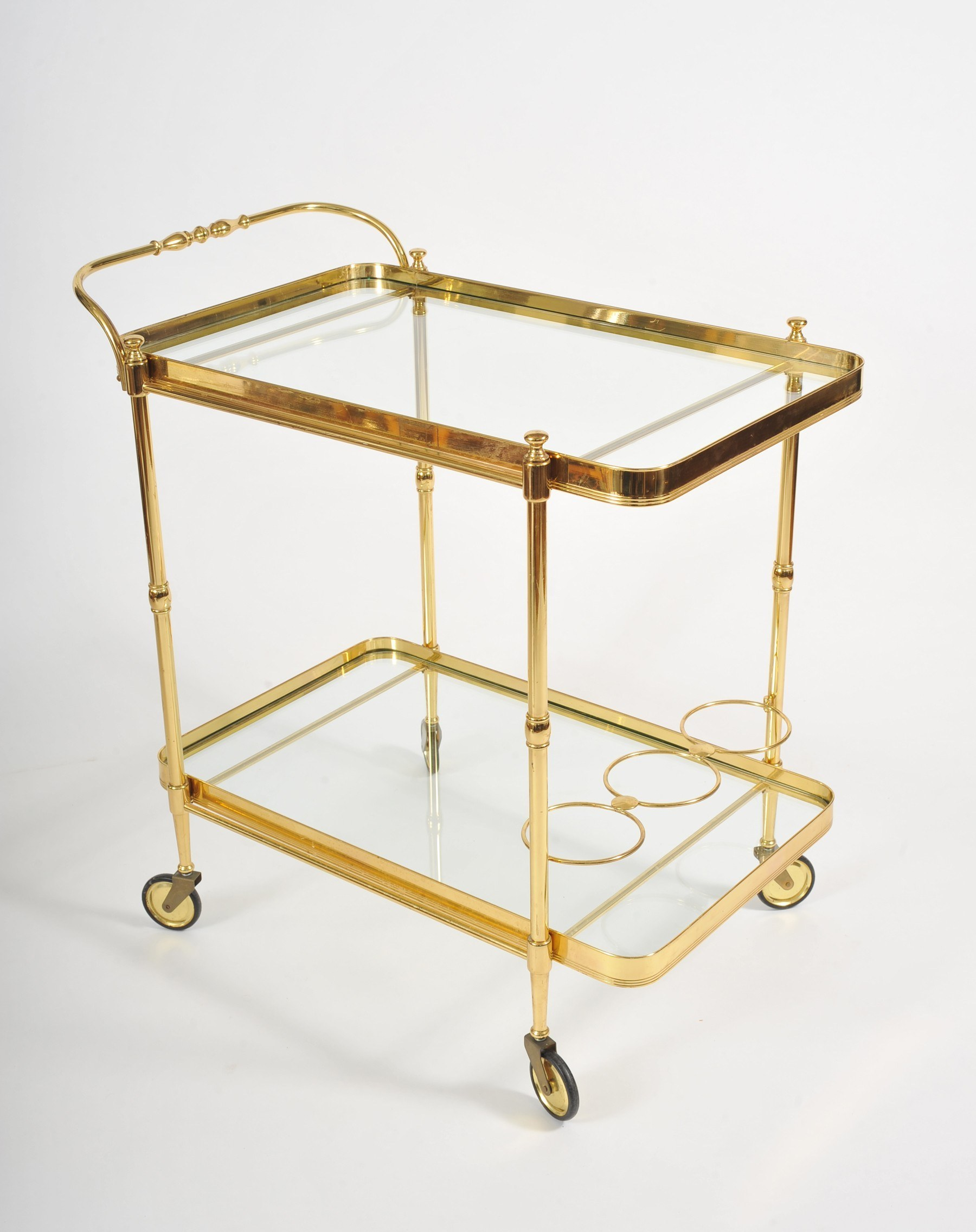 Valerie Wade Ams656 1950S Italian Brass Drinks Trolley 02