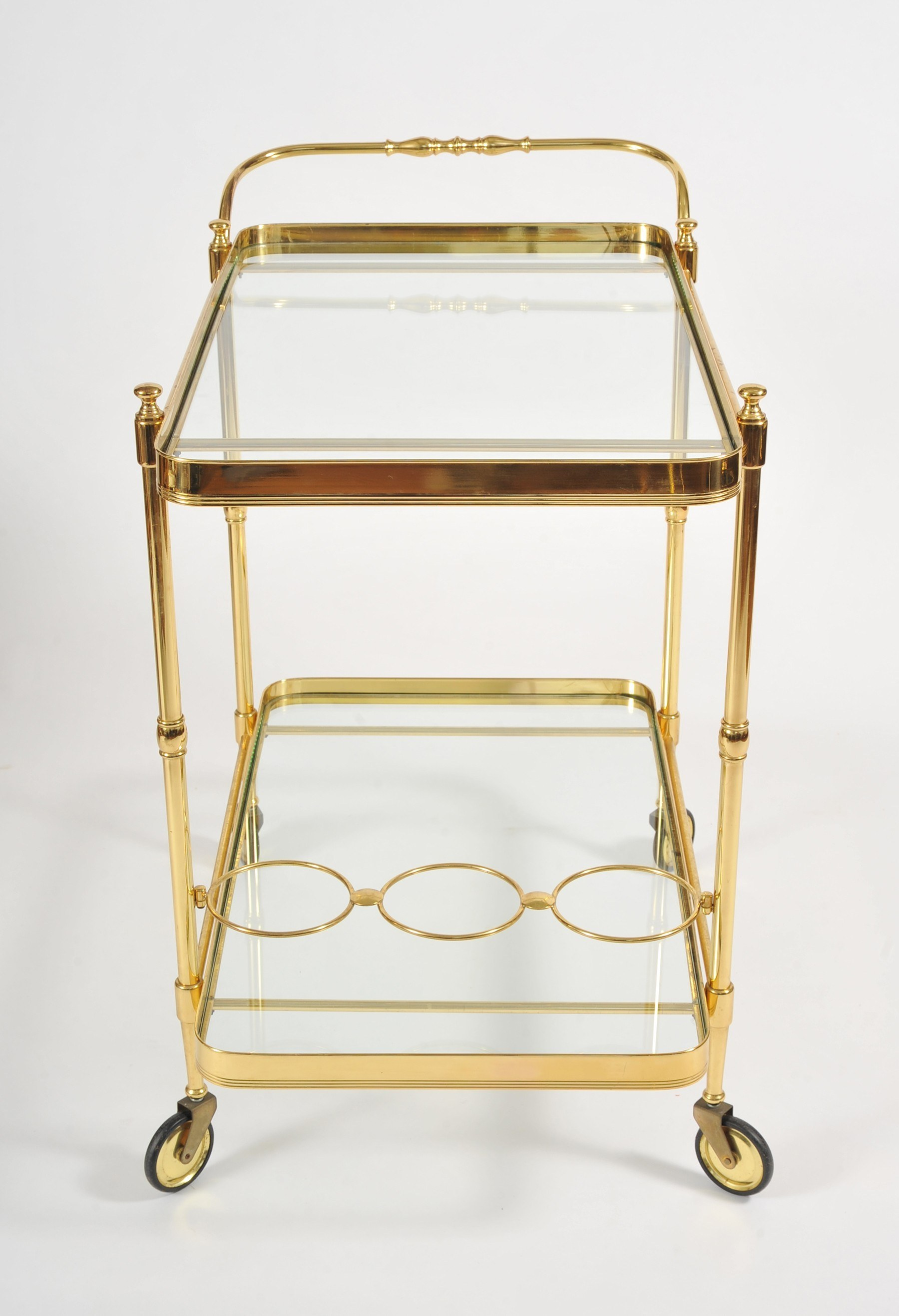 Valerie Wade Ams656 1950S Italian Brass Drinks Trolley 03