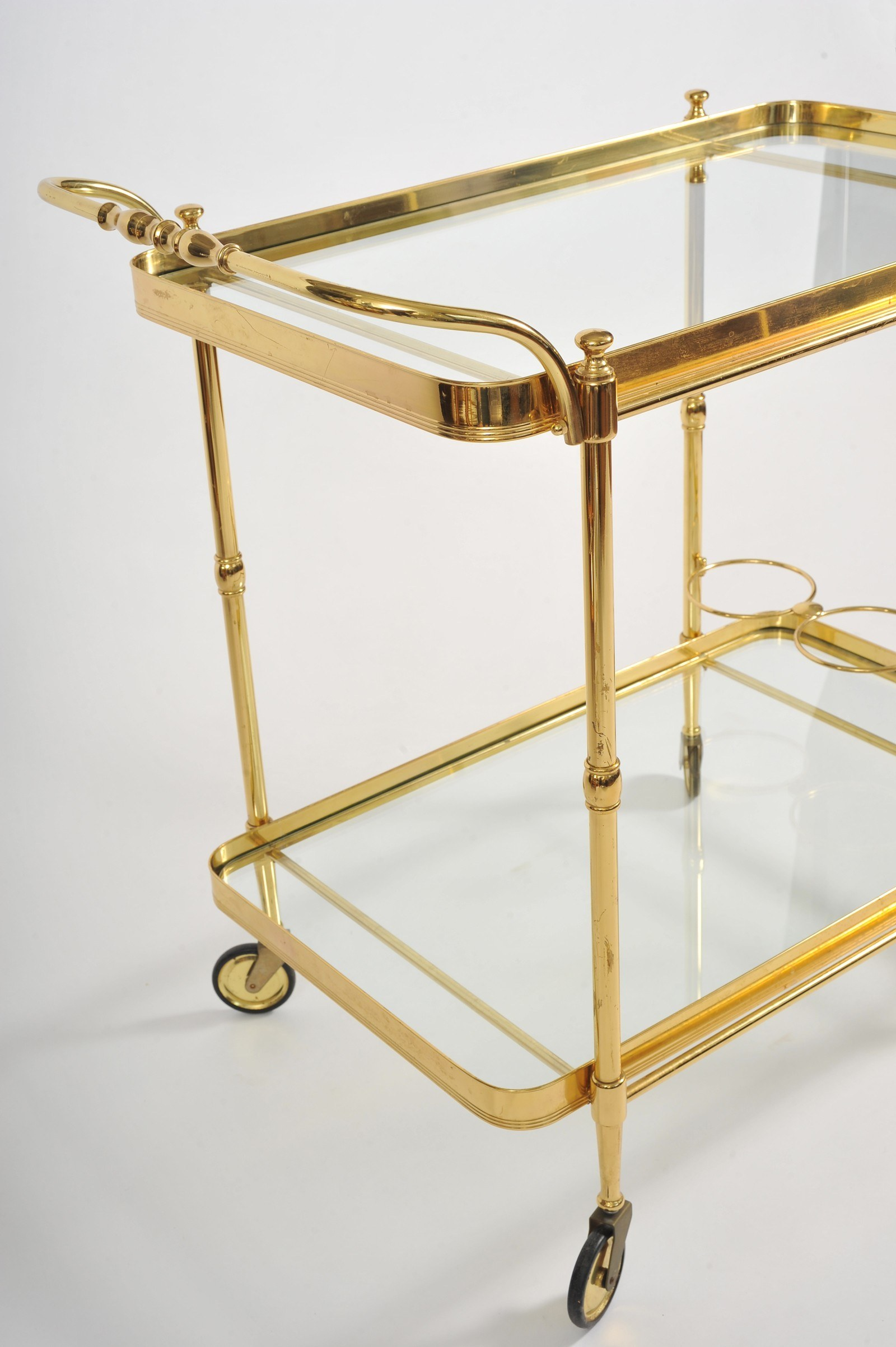 Valerie Wade Ams656 1950S Italian Brass Drinks Trolley 04