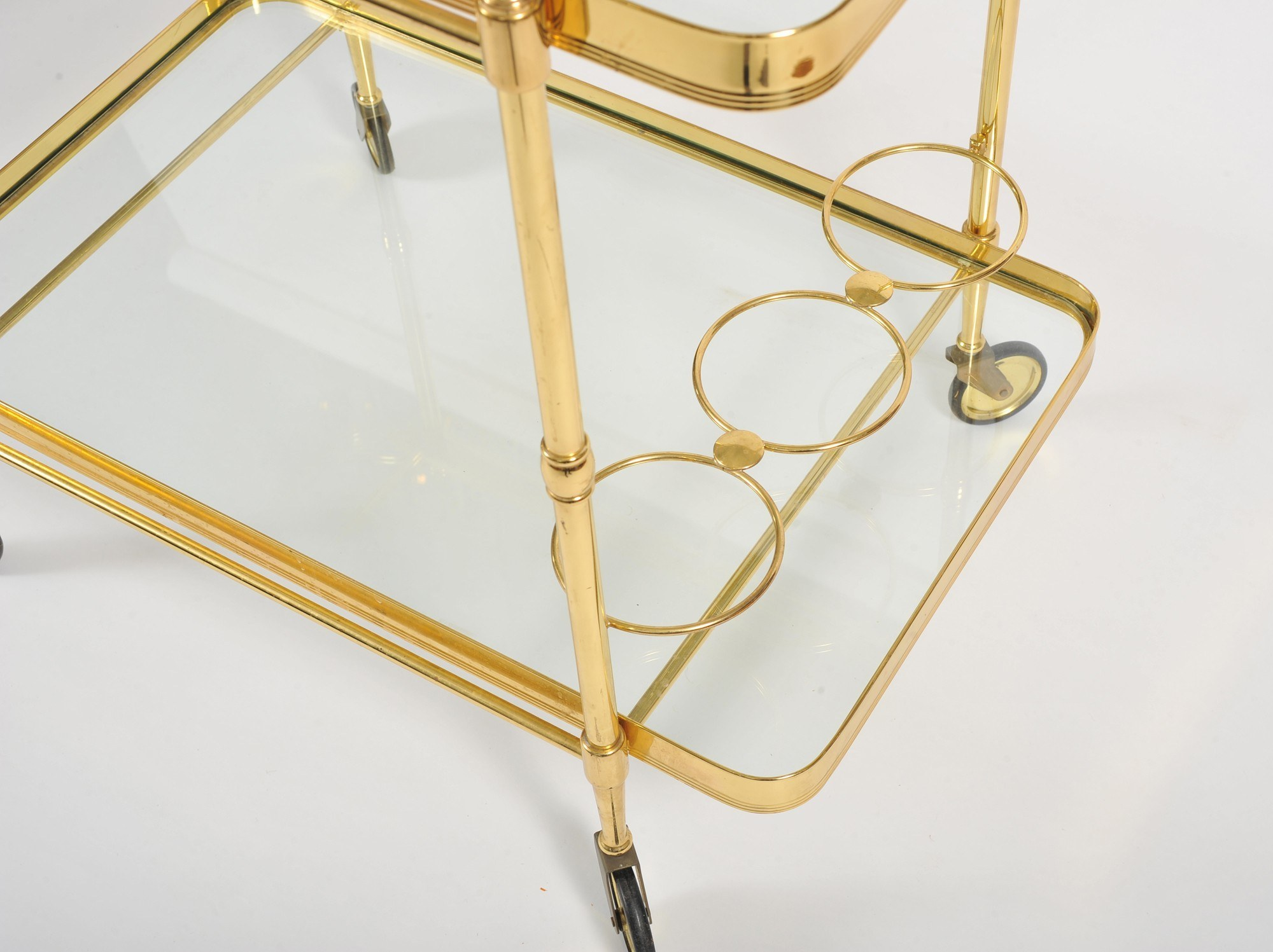 Valerie Wade Ams656 1950S Italian Brass Drinks Trolley 05