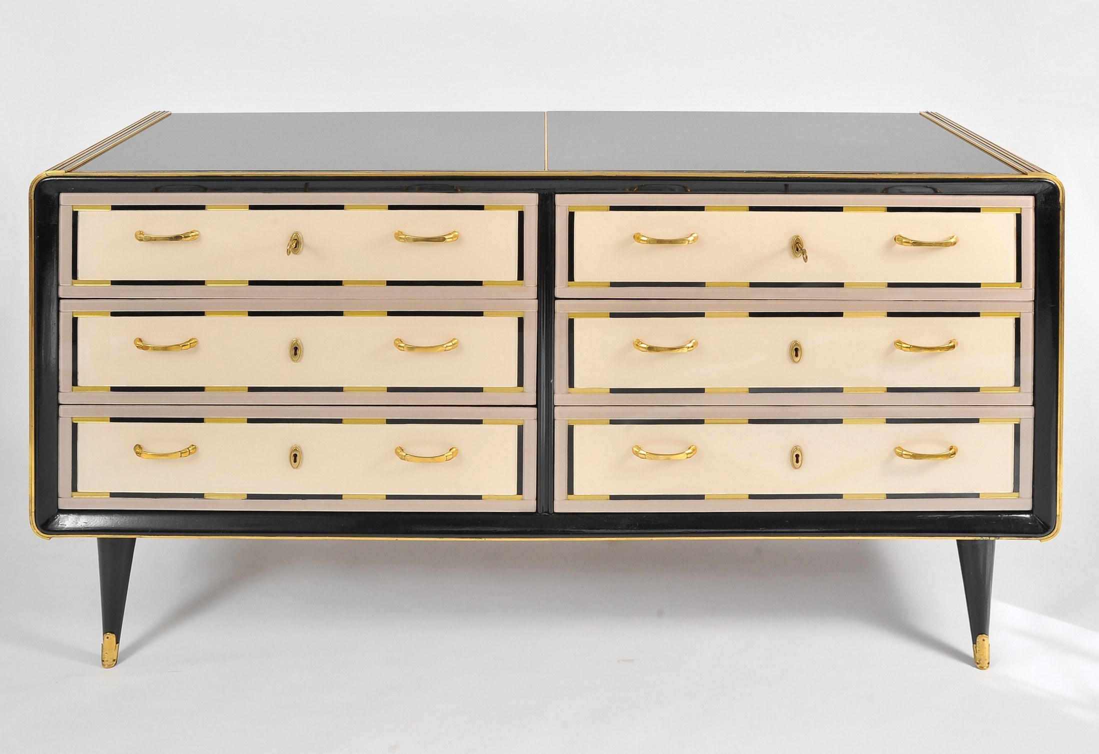 Valerie Wade Fc664 1980S Italian Double Width Chest Drawers 02