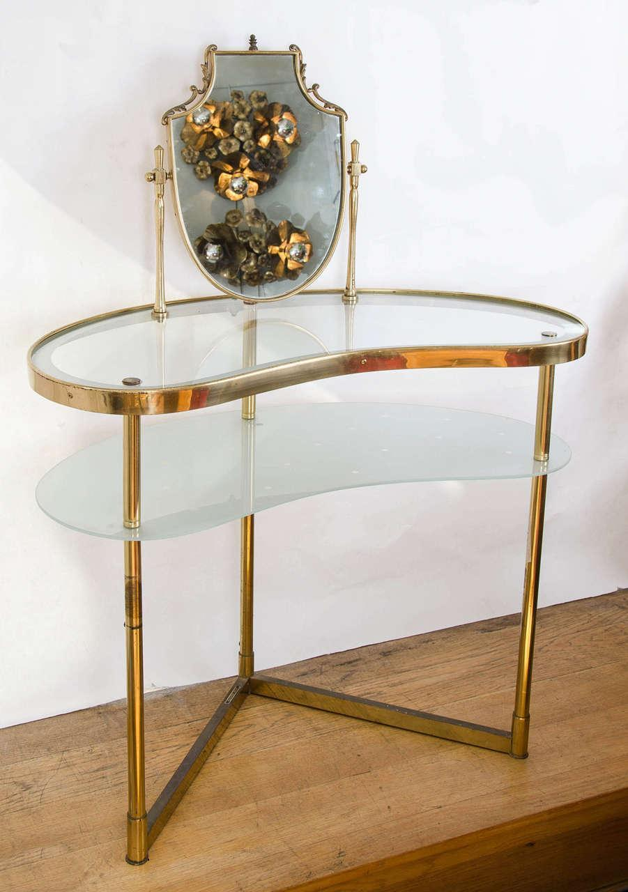 Valerie Wade Fd336 Brass Polka Dot Dressing Table Ii