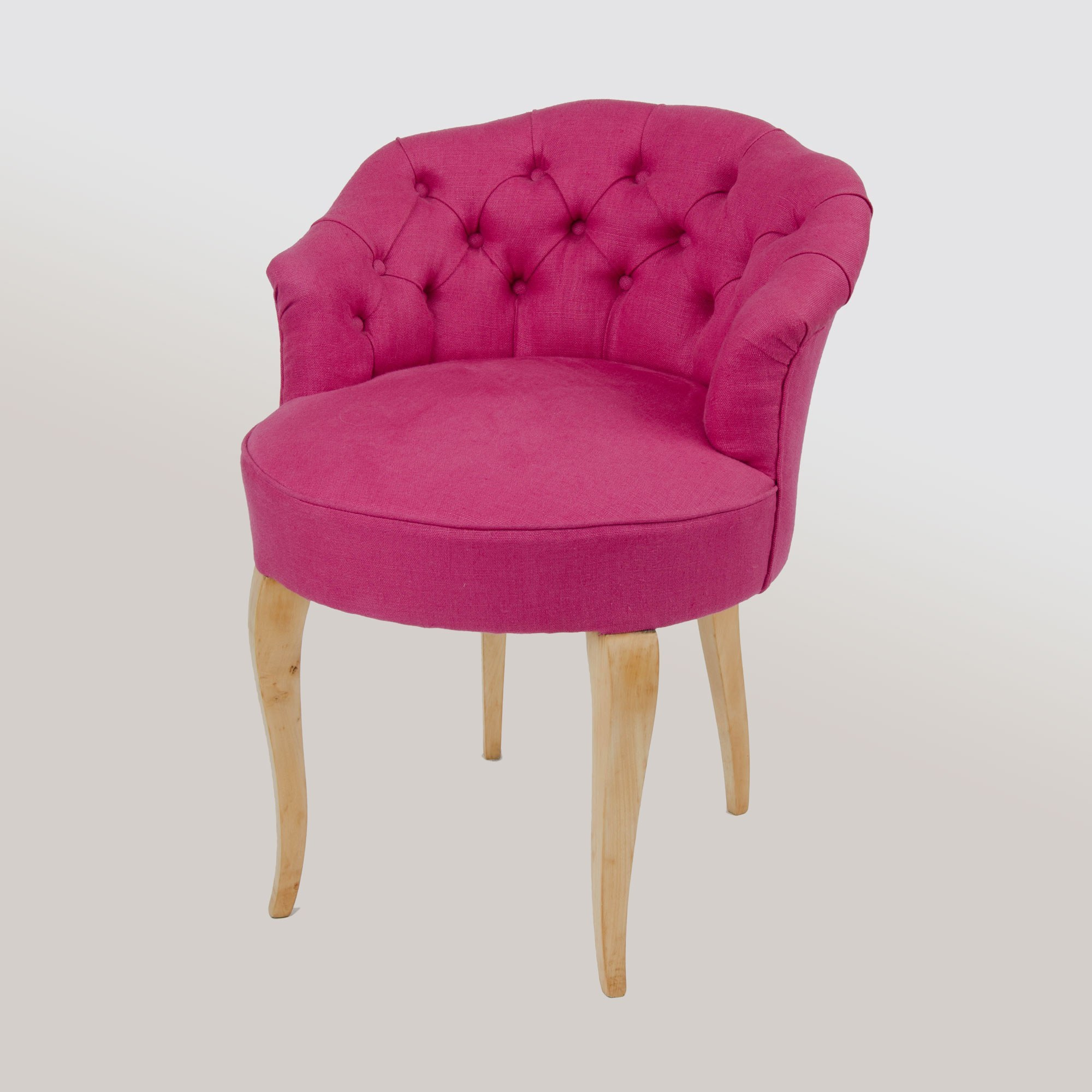 Valerie Wade Fs371 Pink Button Back Upholstered Seat 01