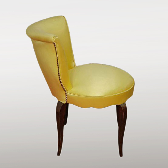 Valerie Wade Fs410 Yellow Brass Studded Upholstered Seat 03