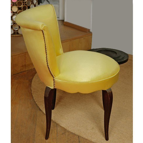 Valerie Wade Fs410 Yellow Brass Studded Upholstered Seat 05
