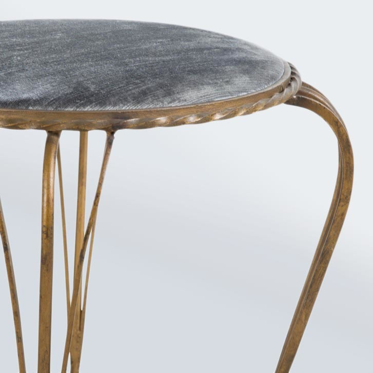 Valerie Wade Fs595 Pair Gilded Iron Stools 03