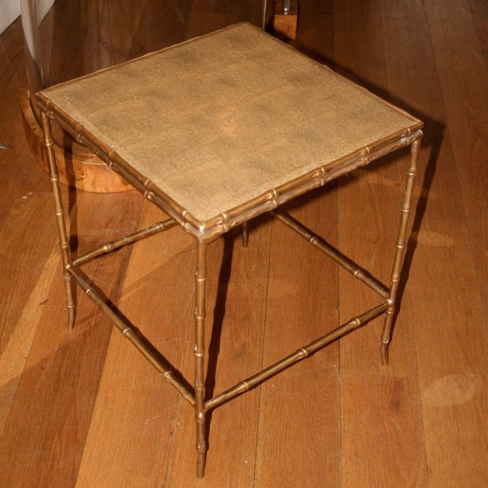 The image for Valerie Wade Ft232 Faux Bamboo Shagreen Side Table 03
