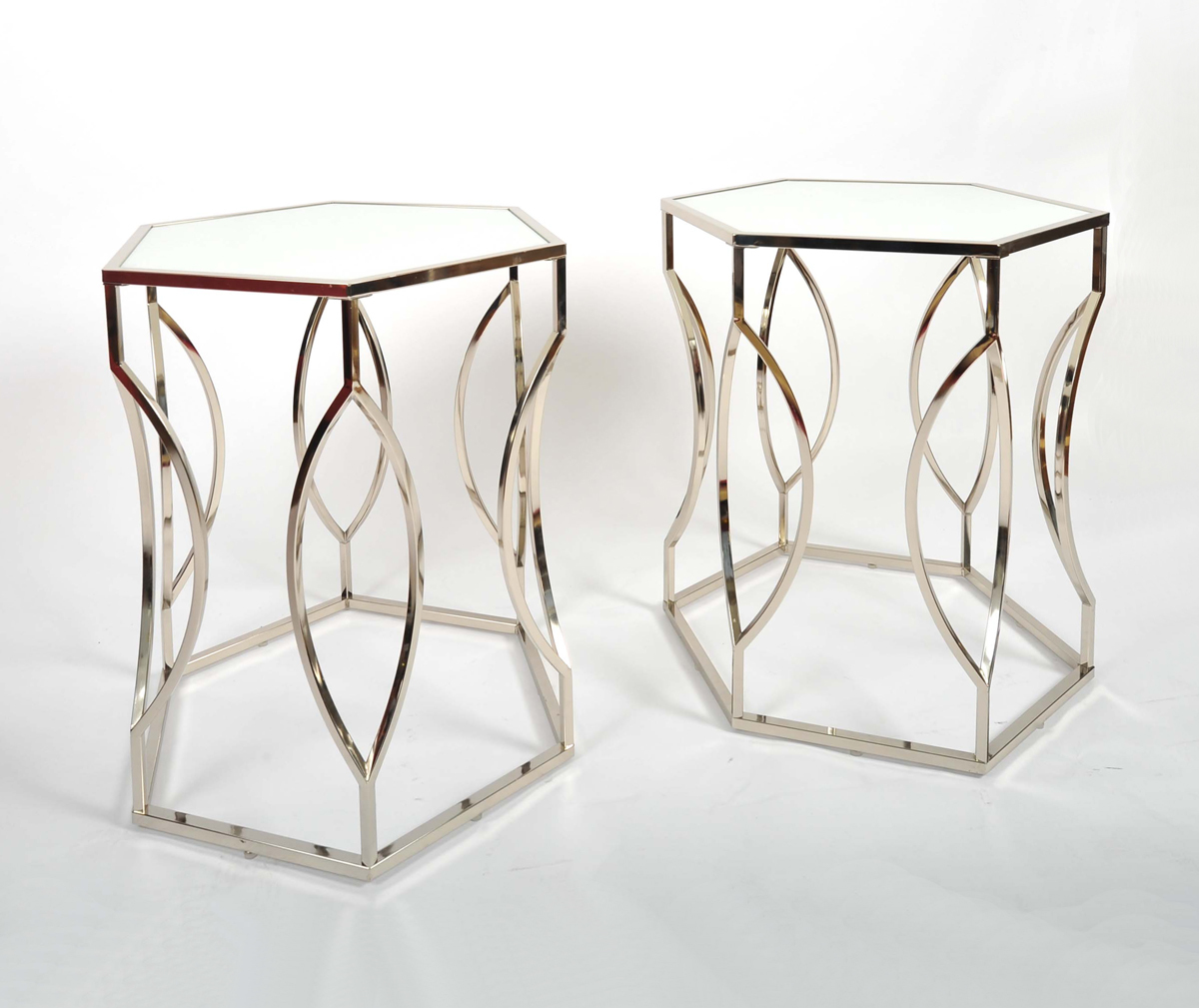 The image for Valerie Wade Ft598 Pair 1960S Us Hexagonal Side Tables03