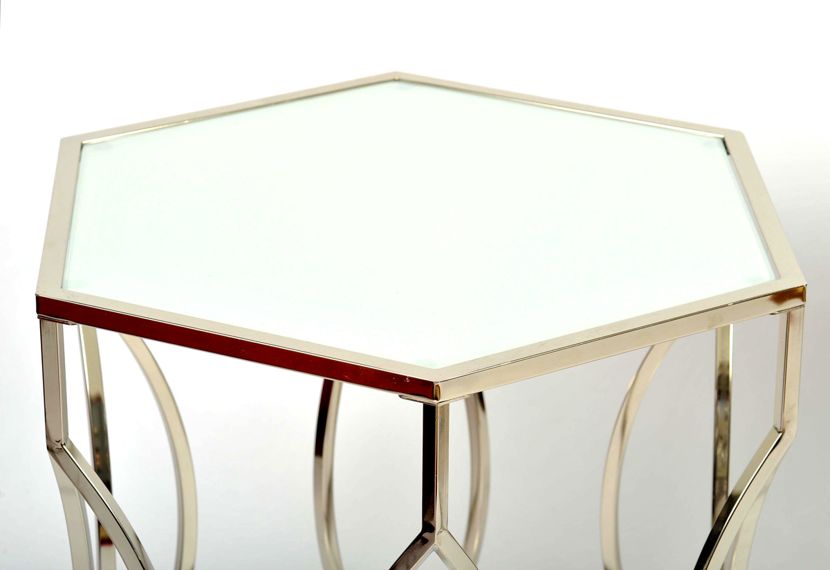The image for Valerie Wade Ft598 Pair 1960S Us Hexagonal Side Tables05