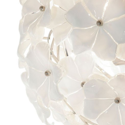 The image for Valerie Wade Lc071 White Murano Globe Chandelier 02