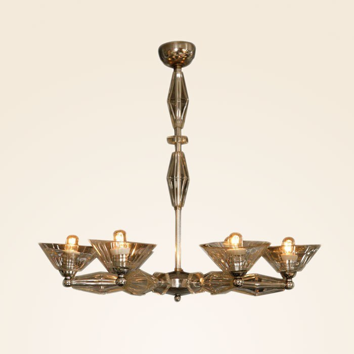 The image for Valerie Wade Lc083 1950S Italian Six Arm Glass Chandelier 01