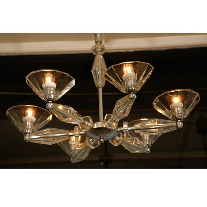 Valerie Wade Lc083 1950S Italian Six Arm Glass Chandelier 02