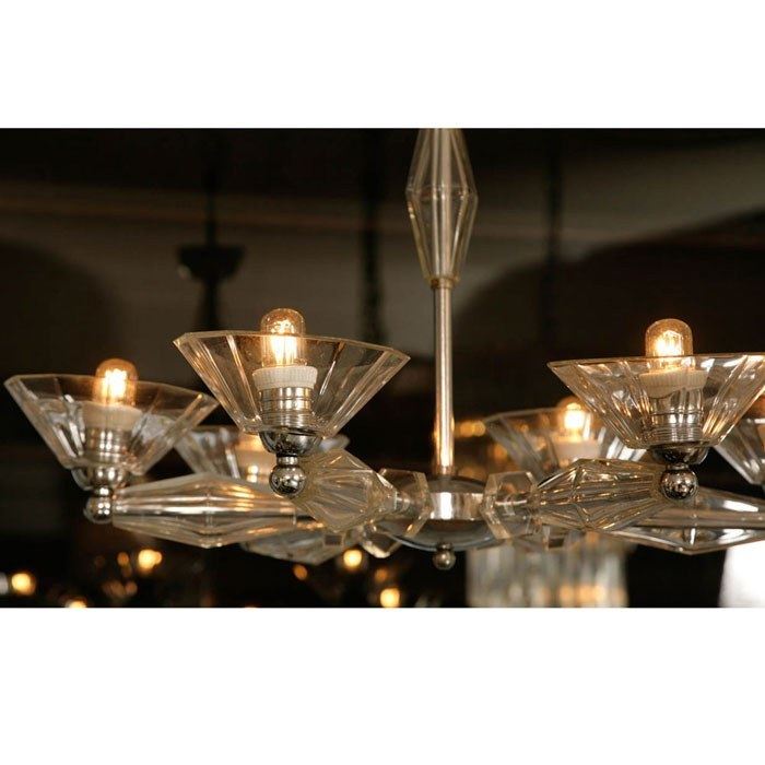 The image for Valerie Wade Lc083 1950S Italian Six Arm Glass Chandelier 03