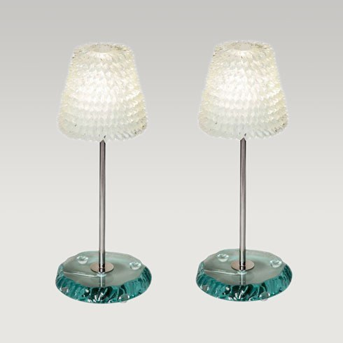 The image for Valerie Wade Lt093 Piecrust Lamp Medium 01