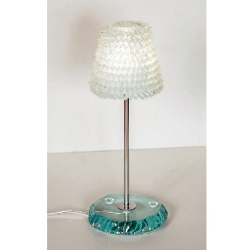 The image for Valerie Wade Lt093 Piecrust Lamp Medium 02