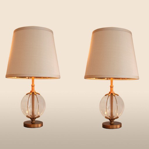 Valerie Wade Lt512 Pair Contemporary Orb Lamps Medium 01