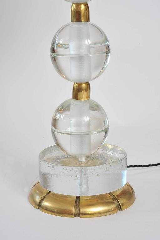 Valerie Wade Lt628 Pair Murano Glass Ball Lamps 04