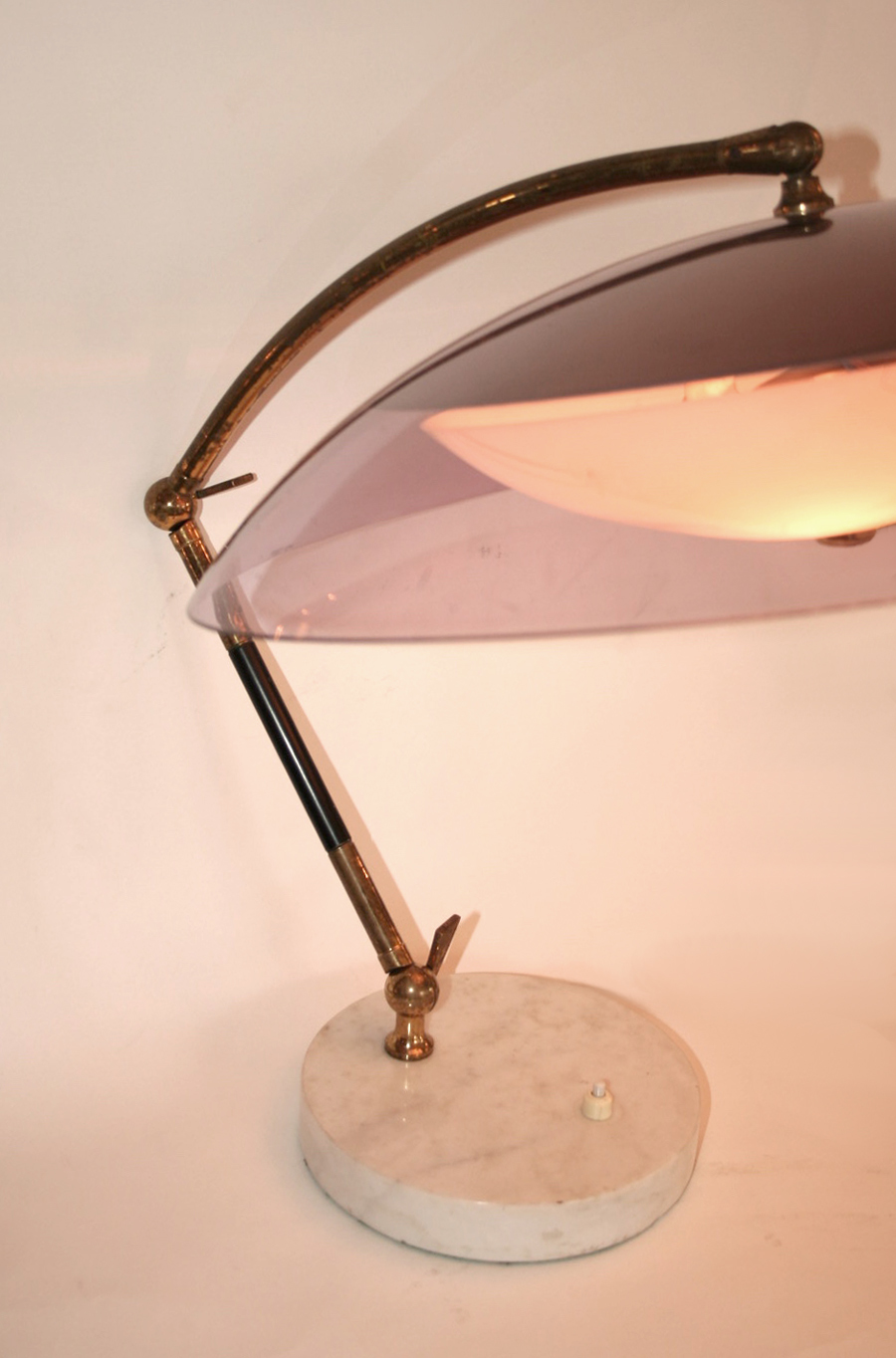 Valerie Wade Lt629 1950S Italian Articulated Dome Lamp Stilux 02