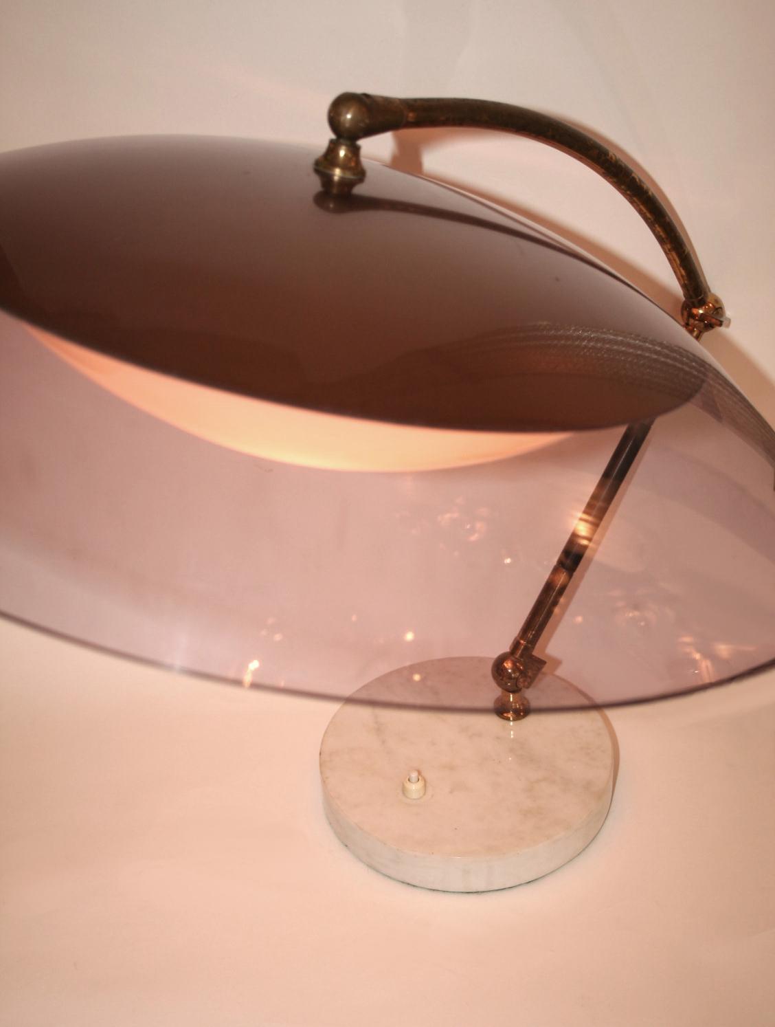 Valerie Wade Lt629 1950S Italian Articulated Dome Lamp Stilux 03