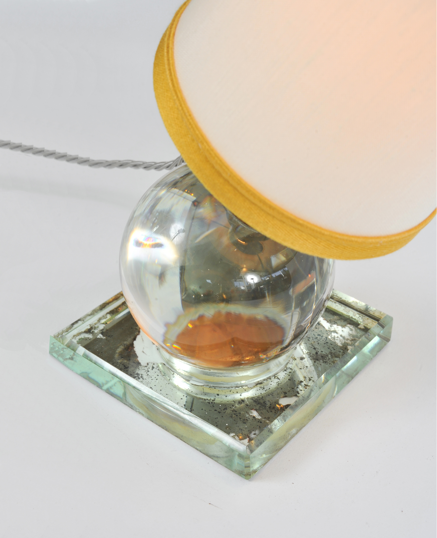 Valerie Wade Lt652 1930S Crystal Ball Lamp Jacques Adnet 02
